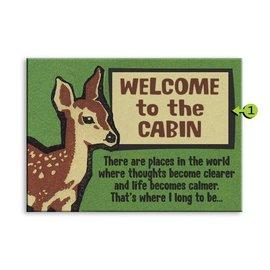 Metal Box Art Customizable, Welcome to Montana (the cabin) 17X23, Metal or Wood