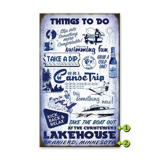 Metal Box Art Customizable, Things to do Lake 18X30 Metal or Wood