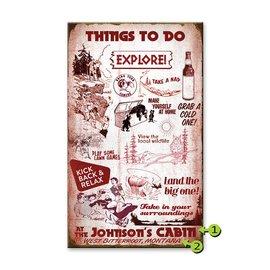 Metal Box Art Customizable, Things to do Cabin 18X30, Metal or Wood