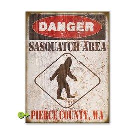 Metal Box Art Customizable, Sasquatch Area 17X23 , Metal or Wood