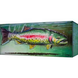 Metal Box Art RAINBOW TROUT 42X16.5  ED ANDERSON
