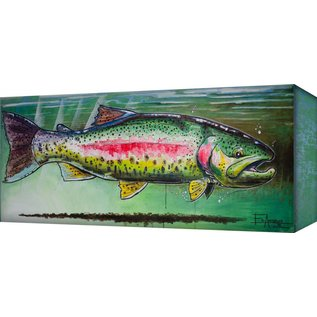 Metal Box Art RAINBOW TROUT 42X16.5  ED ANDERSON