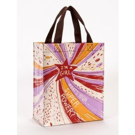 Blue Q HANDY TOTE - I'M A GIRL WHAT'S YOUR SUPER POWER