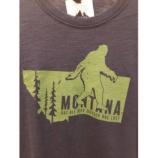 Montana Life Not All Who Wander Bigfoot Tee