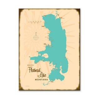Metal Box Art Flathead Lake MT Lakebound Wood 23x31