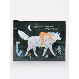 Blue Q ZIPPER POUCH - CARRY ME INTO THE WEEKEND