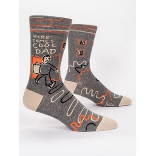 Blue Q CREW SOCK - HERE COMES COOL DAD