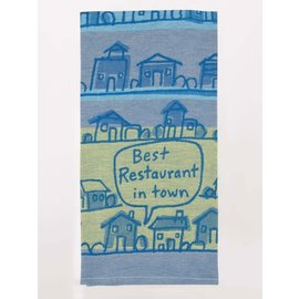 Blue Q WOVEN DISHTOWEL - BEST RESTAURANT IN TOWN