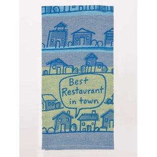 Blue Q WOVEN DISHTOWEL - BEST RESTAURANT IN TOWN