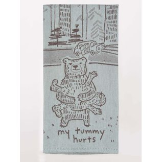 Blue Q WOVEN DISHTOWEL - MY TUMMY HURTS