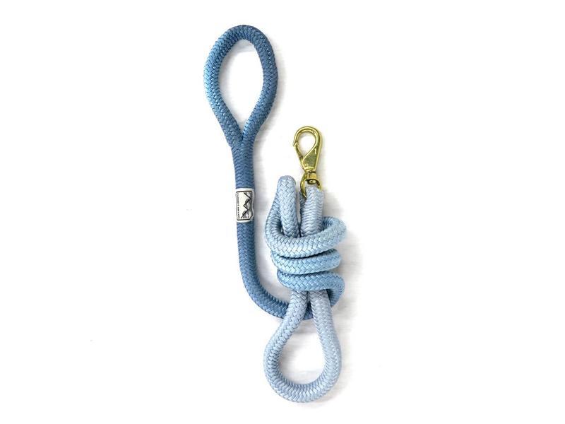 Cloud Canyon Blue Ombré Lock Stitched Lead