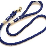 Green Trout Navy Cotton Rope Lead