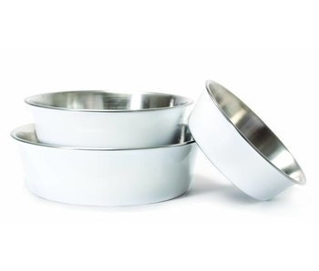 Harry Barker White Stainless Steel Bowl