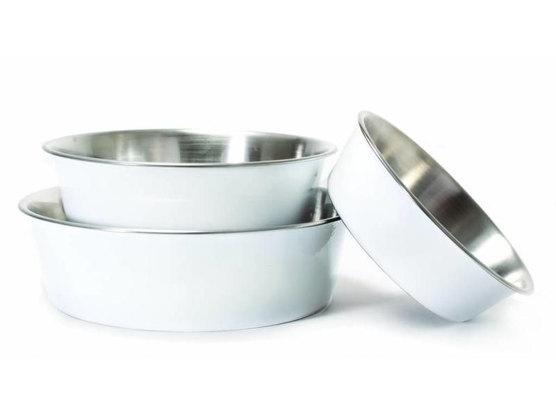 Harry Barker White Stainless Steel Bowl
