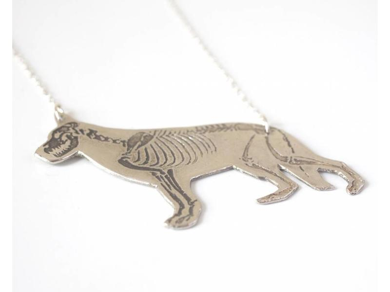 J. Topolski Skeleton German Shepherd Necklace