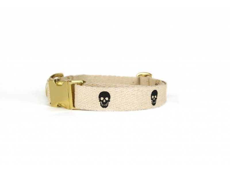 SHED Brooklyn Hemp Skull Collar, Black