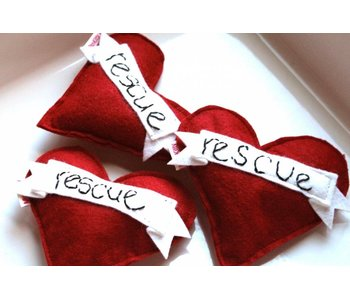 Miso Handmade Rescue Heart Catnip Toy