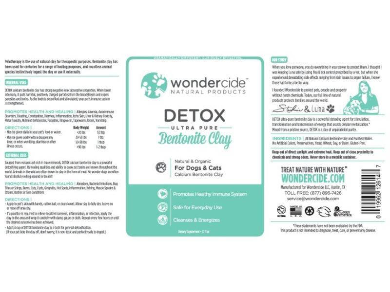 Wondercide Detox Bentonite Clay