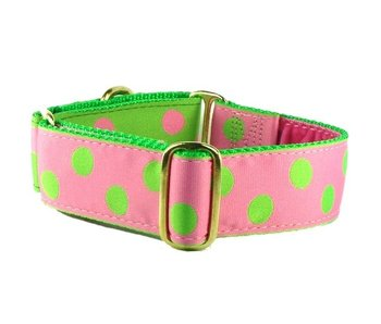 2 Hounds Design Pink Dots Martingale Collar