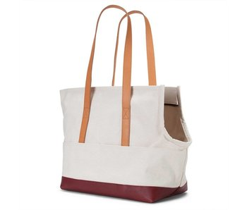 Love Thy Beast Canvas & Leather Pet Tote