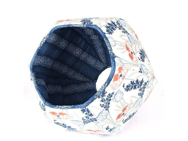 The Cat Ball Ball Bed, Nouveau Floral