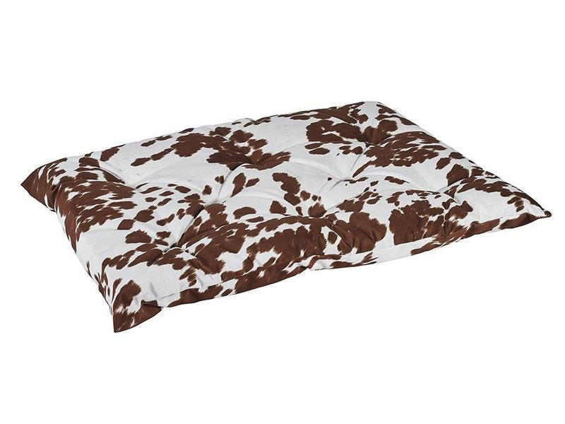 Bowsers Tufted Cushion Cow Print