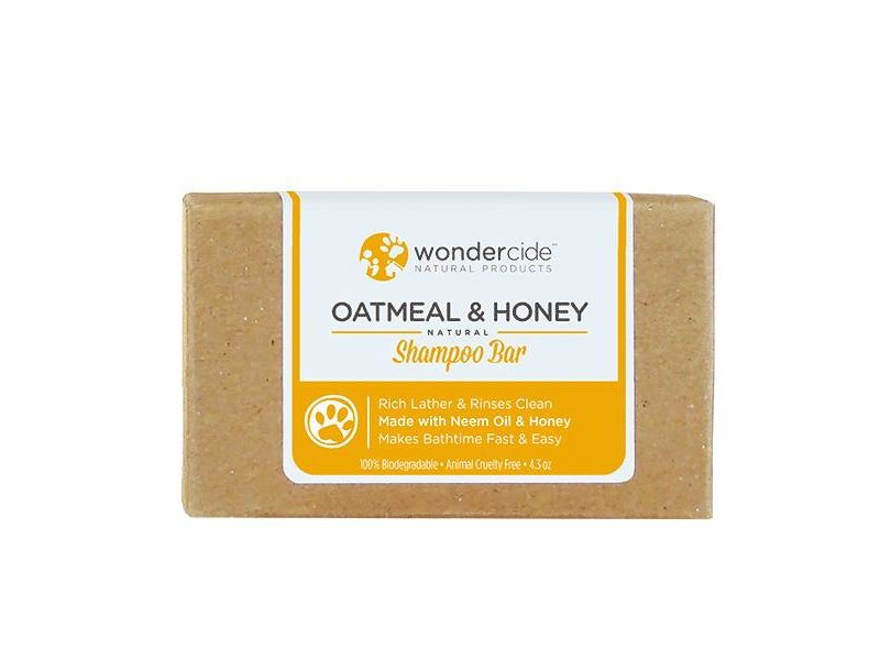 Wondercide Oatmeal & Honey Shampoo Bar