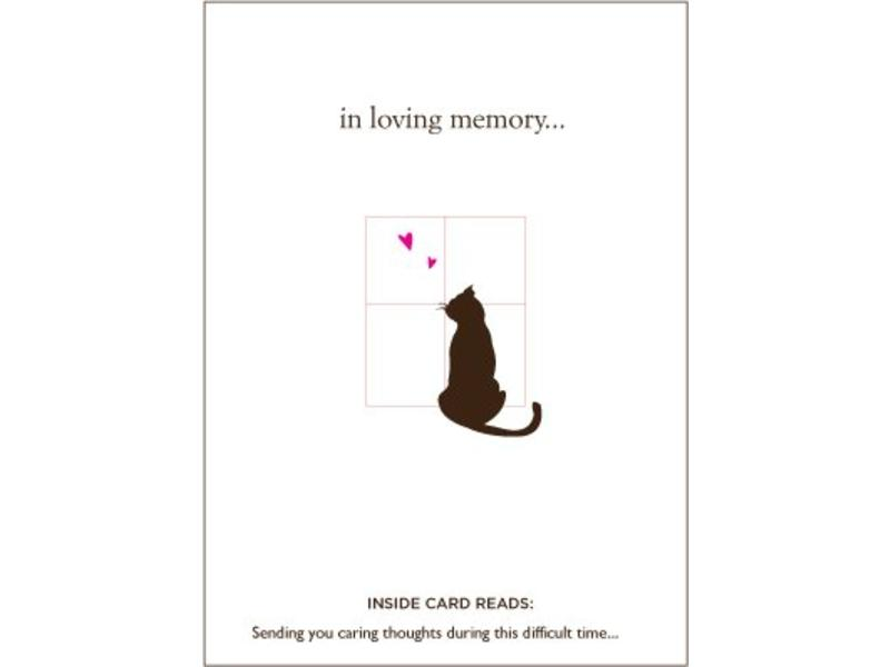 loyal friend cat sympathy card feed pet purveyor