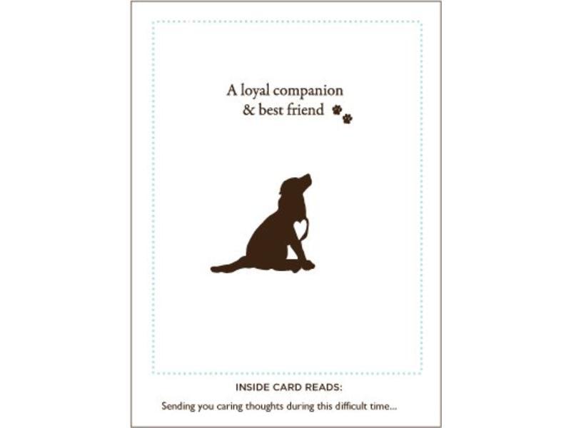 Loyal Friend Dog Sympathy Card