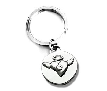In Loving Memory Angel Wings Keychain