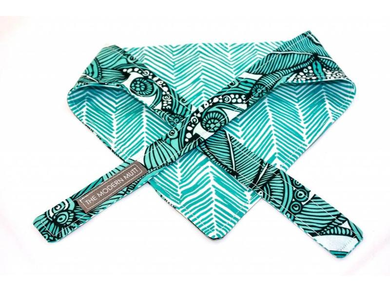The Modern Mutt Teal Nouveau Pet Bandana