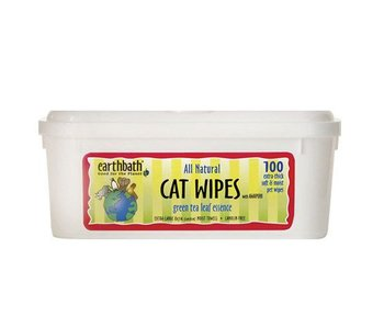 earthbath Green Tea Grooming Wipes for Cat