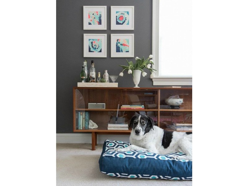 Janery Charlie Cushion, Mod Dot Blue