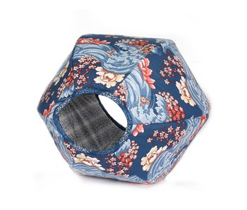 Ball Bed, Nouveau Floral Navy