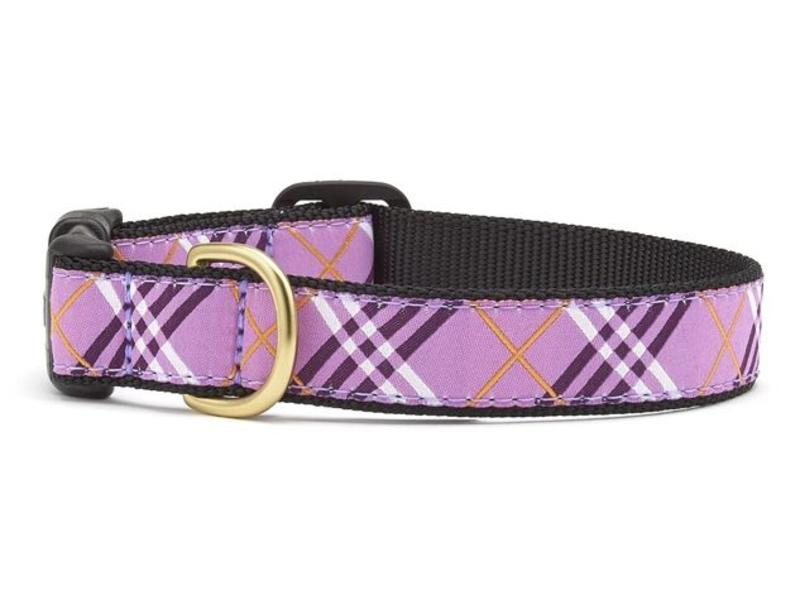 Up Country Cat Collar, Lavender Lattice