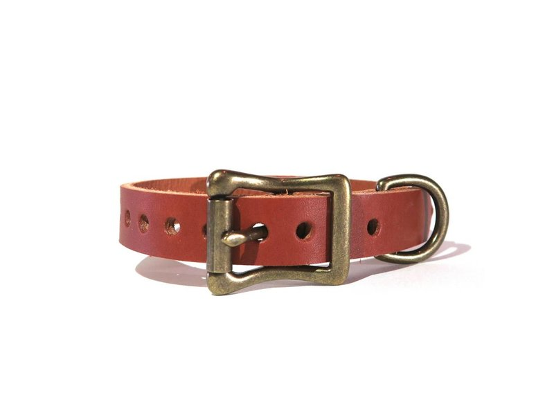 Choice Cuts Leather Collar, Chestnut