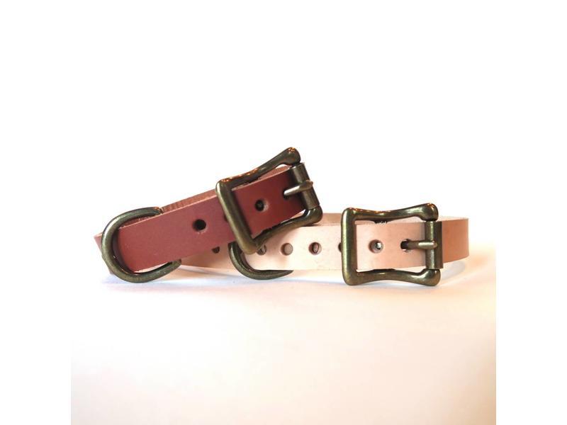 Choice Cuts Leather Collar, blush