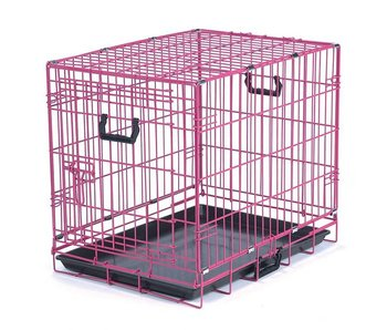 Pink Folding Crate