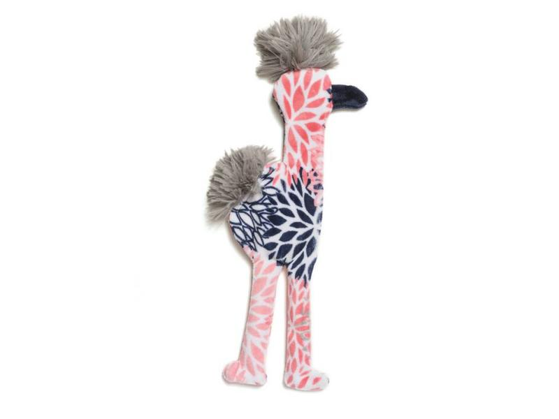West Paw Flamingo Stuffless Toy, Carnation
