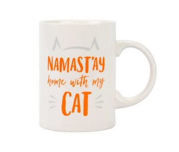 Namast'ay Home with My Cat Ceramic Mug