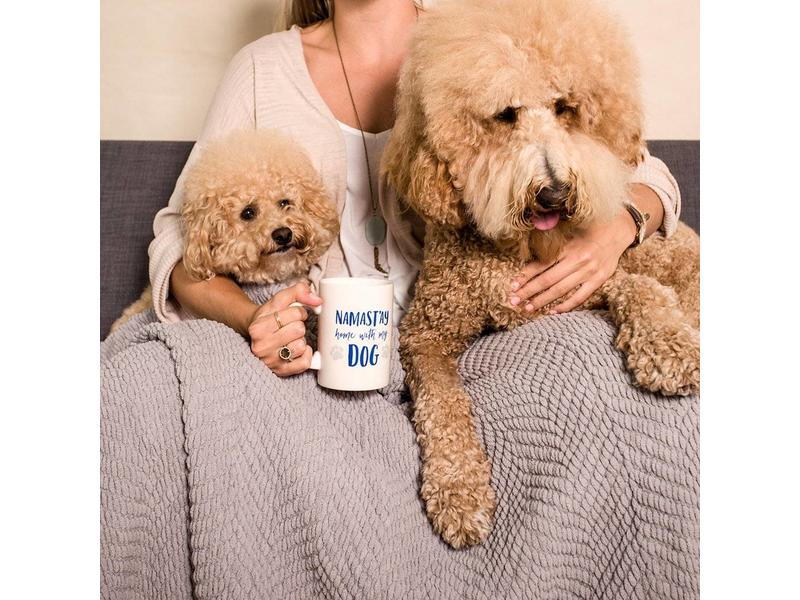 Namast'ay Home with My Dog Ceramic Mug