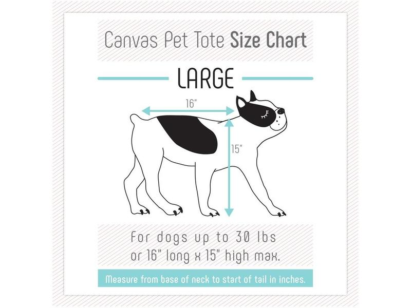 Love Thy Beast Canvas Pet Tote, Grey
