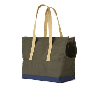 Love Thy Beast Canvas Pet Tote, Olive