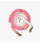 Green Trout Adjustable Rope Lead Pink Ombre