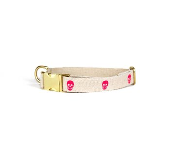 SHED Brooklyn Hemp Skull Collar, Pink