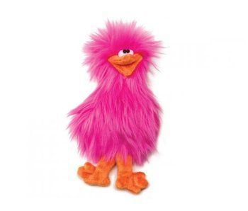 West Paw Spring Chicken Toy, Pink
