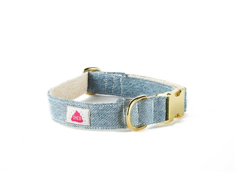 "SHED Brooklyn ""Mom Jeans"" Light Wash Denim Collar"