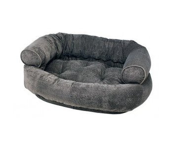 Bowsers Double Donut Sofa Bed, Pewter Bones