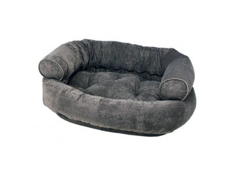 Bowsers Double Donut Sofa Bed, Pewter Bones - Small
