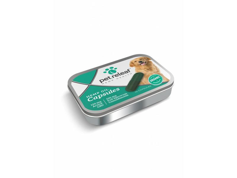 Pet Releaf CBD Hemp Oil Capsules, 10 pack